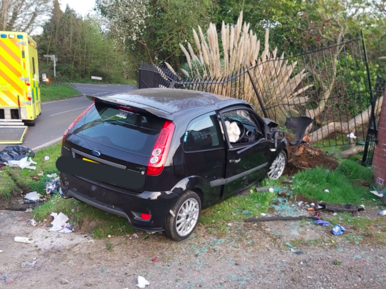 Police criticised the driver for breaking lockdown guidelines. (Twitter/@EP_RPU_South)