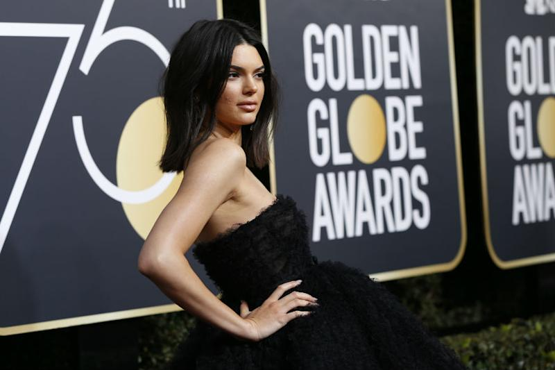 (Photo: Supermodel Kendall Jenner at Golden Globes red carpet/ Reuters)