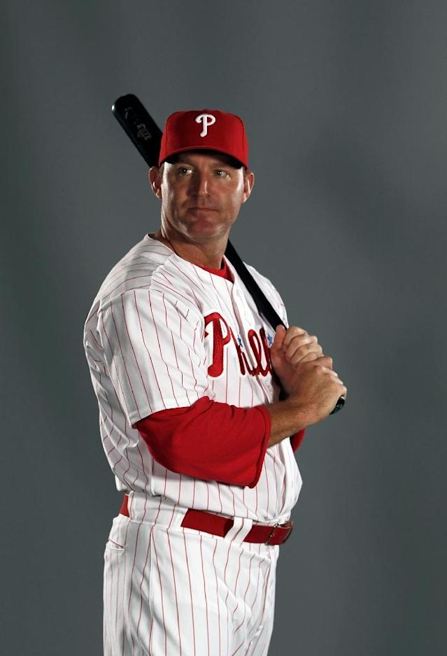 Jim Thome of the Philadelphia Philles poses for a portrait at the Bright House Field in Clearwater, Florida, in March 2012 (AFP Photo/JONATHAN FERREY)