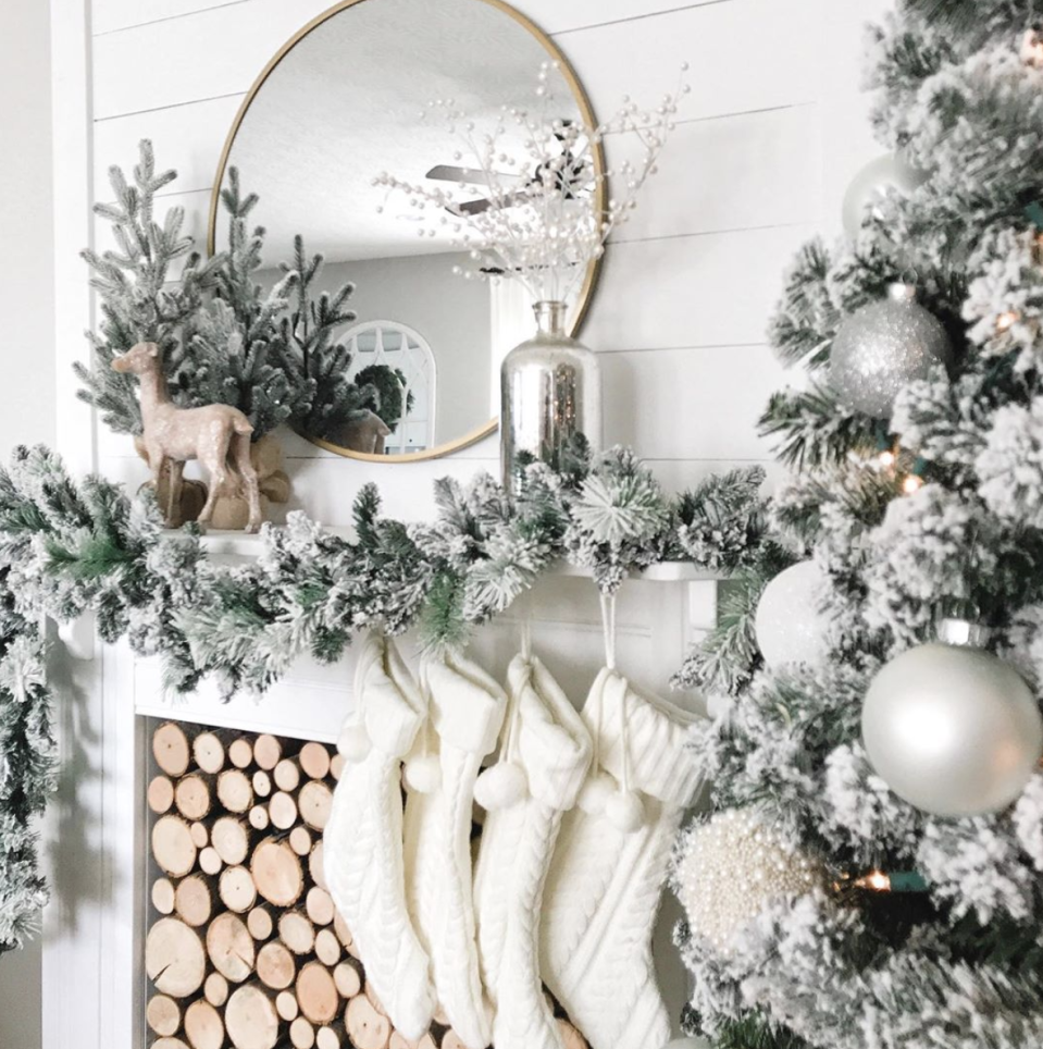"<p>It's Christmas, you may as well double up on the winter vibes and ensure everything that touches your mantel looks snow-covered. </p><p><em>See more at <a href=""https://www.instagram.com/p/B5EbtELnlWS/"" rel=""nofollow noopener"" target=""_blank"" data-ylk=""slk:Be Glorified Home"" class=""link rapid-noclick-resp"">Be Glorified Home</a>.</em></p><p><a class=""link rapid-noclick-resp"" href=""https://www.amazon.com/CraftMore-Frosted-Forest-Pine-Garland/dp/B07F7NJ3L6/?tag=syn-yahoo-20&ascsubtag=%5Bartid%7C10072.g.34484299%5Bsrc%7Cyahoo-us"" rel=""nofollow noopener"" target=""_blank"" data-ylk=""slk:SHOP FLOCKED GARLAND"">SHOP FLOCKED GARLAND</a></p>"