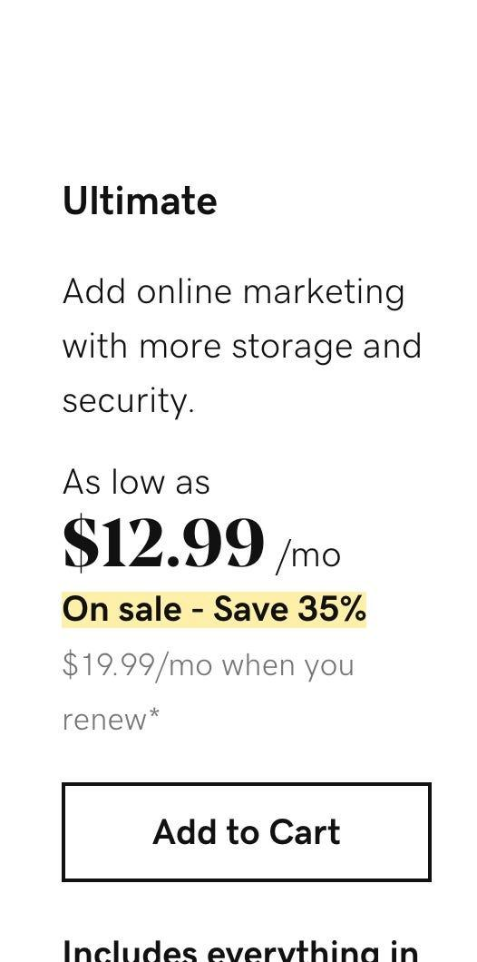 GoDaddy's intro rate bumps up to $19.99