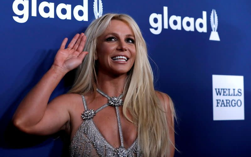 FILE PHOTO: Singer Spears poses at the 29th Annual GLAAD Media Awards in Beverly Hills