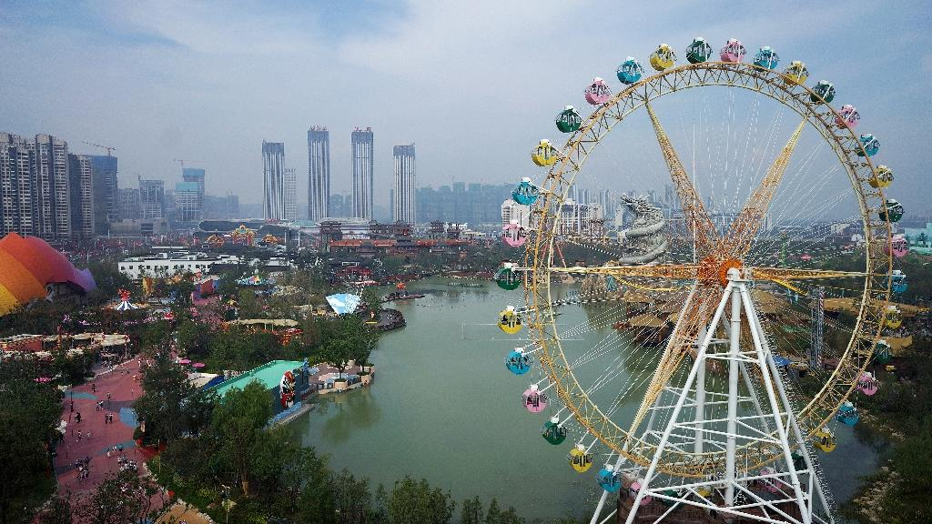 Hefei Wanda Culture Tourism City, a theme park in Hefei, opened in September 2016, making it the latest in a series of Wanda theme parks built to rival Disneyland (AFP Photo/Str)