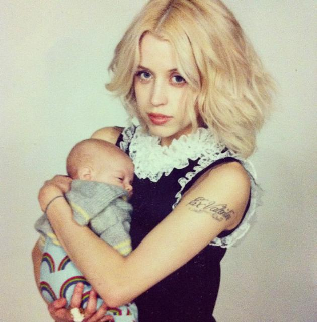 Celebrity photos: Peaches Geldof has posted numerous photos of her gorgeous son Astala since he was born a month ago, but this week they posed for their first professional portrait – and here's the result.