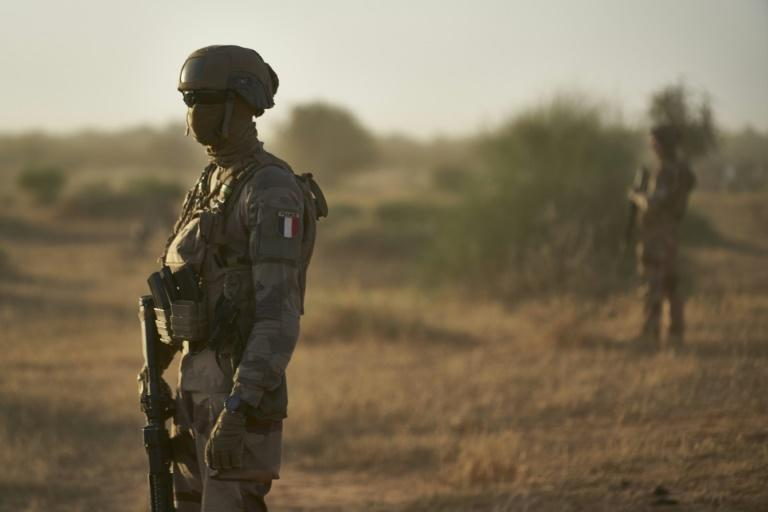 Soldiers from the French Army in the Sahel monitor a rural area in northern Burkina Faso in November 2019