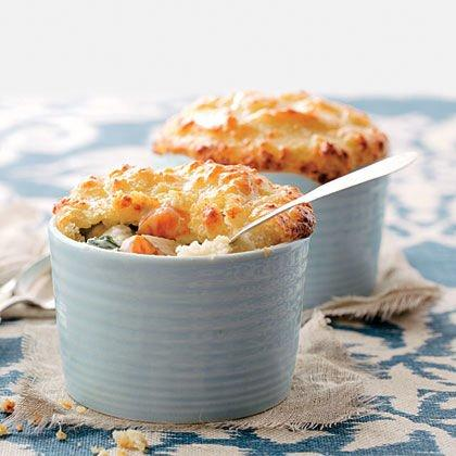 "<p><strong>Recipe: <a href=""https://www.southernliving.com/syndication/vegetable-pot-pies"">Biscuit-topped Vegetable Pot Pies</a></strong></p> <p>Get your daily dose of veggies and dig into this mouth-watering biscuit pie.</p>"