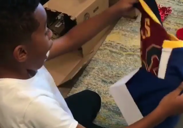 NBA teams didn't unwrap new jerseys this Christmas, but a few fans did. (Instagram)