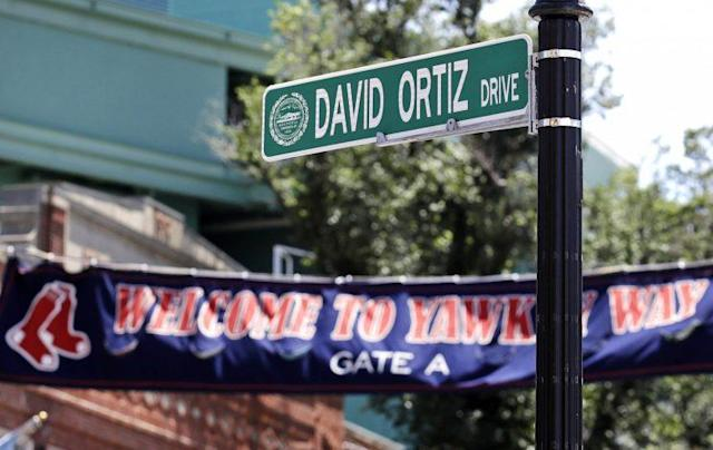 David Ortiz now has a street named after him in Boston. (AP)