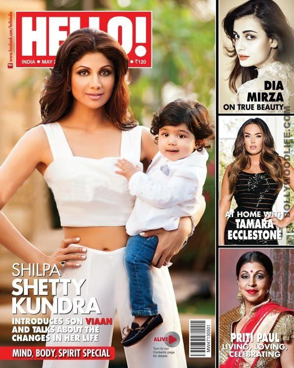 <p>Bollywood's yummy mommy Shilpa Shetty posed with her son Viaan for the first time on the Hello cover. The edition introduces her son to the world and speaks about the changes Shilpa underwent after becoming a mommy. Both mommy and son were clad in causal white outfits and we have nothing to complain about!</p>