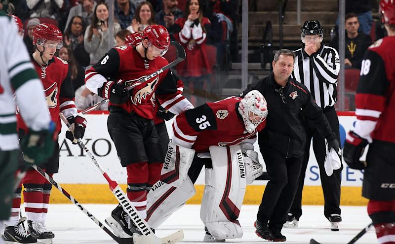 Coyotes' Kuemper out 'week-to-week' with lower-body injury