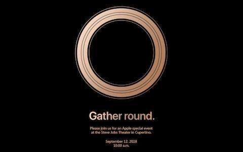 The invitation sent by Apple.
