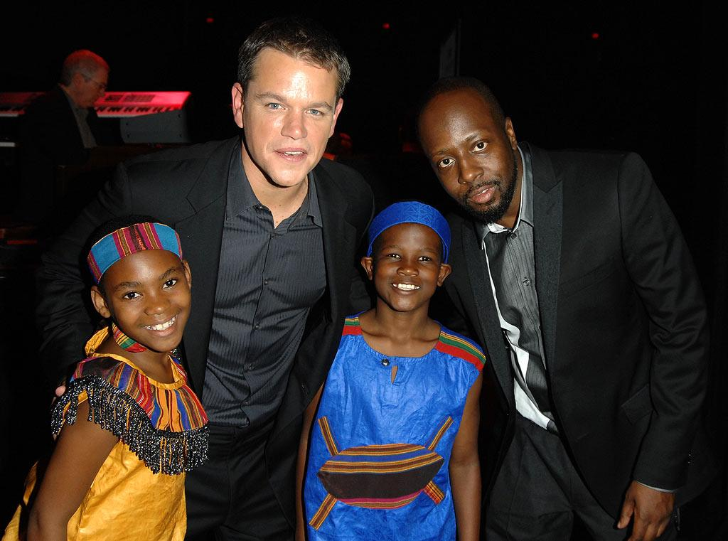 """Wyclef Jean lends his star power to the charity event. The singer has also rallied for hurricane relief in Haiti, where 600,000 people have been displaced from their homes. George Pimentel/<a href=""""http://www.wireimage.com"""" target=""""new"""">WireImage.com</a> - September 8, 2008"""