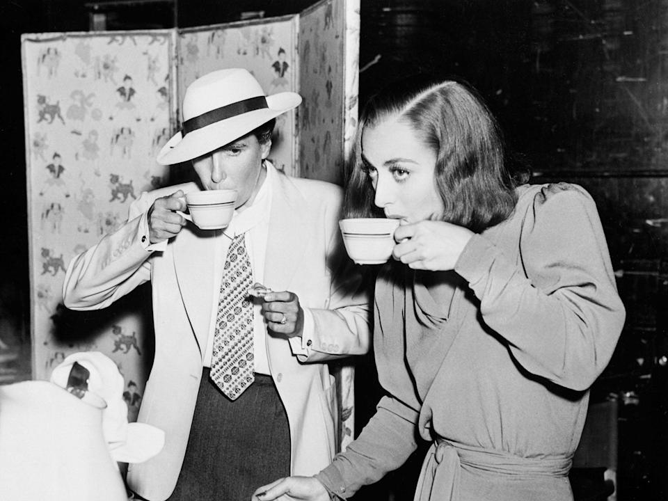 Sip the tea: Dorothy Arzner and Joan Crawford on the set of 'The Bride Wore Red' in 1937 (Mgm/Kobal/Shutterstock)