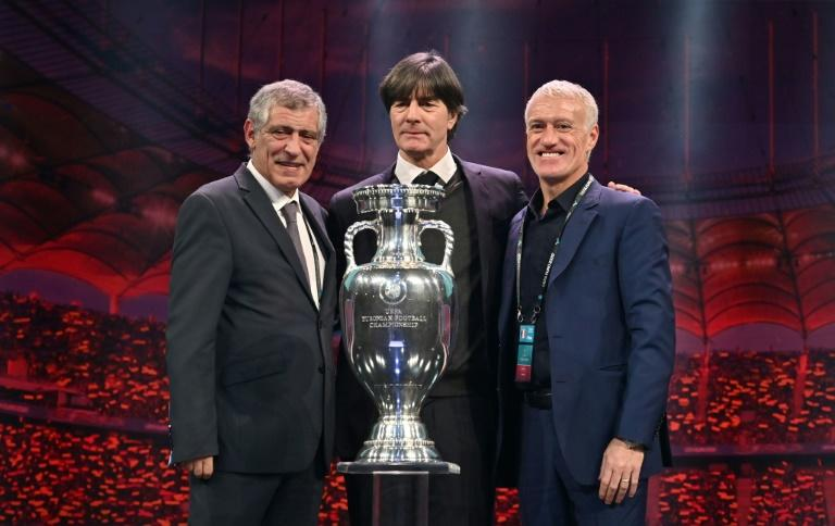 Joachim Loew (C) has been put under pressure to reach the semi-finals at Euro 2020