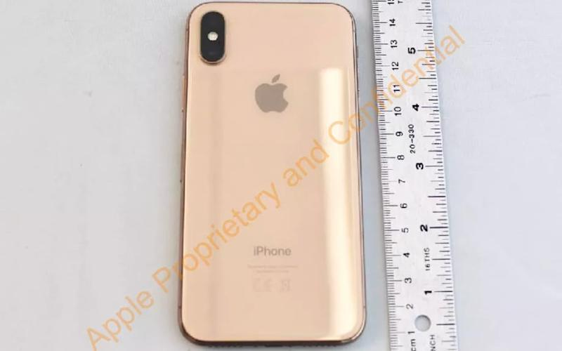 An unreleased iPhone X in gold
