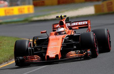 Formula One - F1 - Australian Grand Prix - Melbourne, Australia - 24/03/2017 McLaren driver Stoffel Vandoorne of Belgium laps the Melbourne circuit during the first practice session. REUTERS/Jason Reed