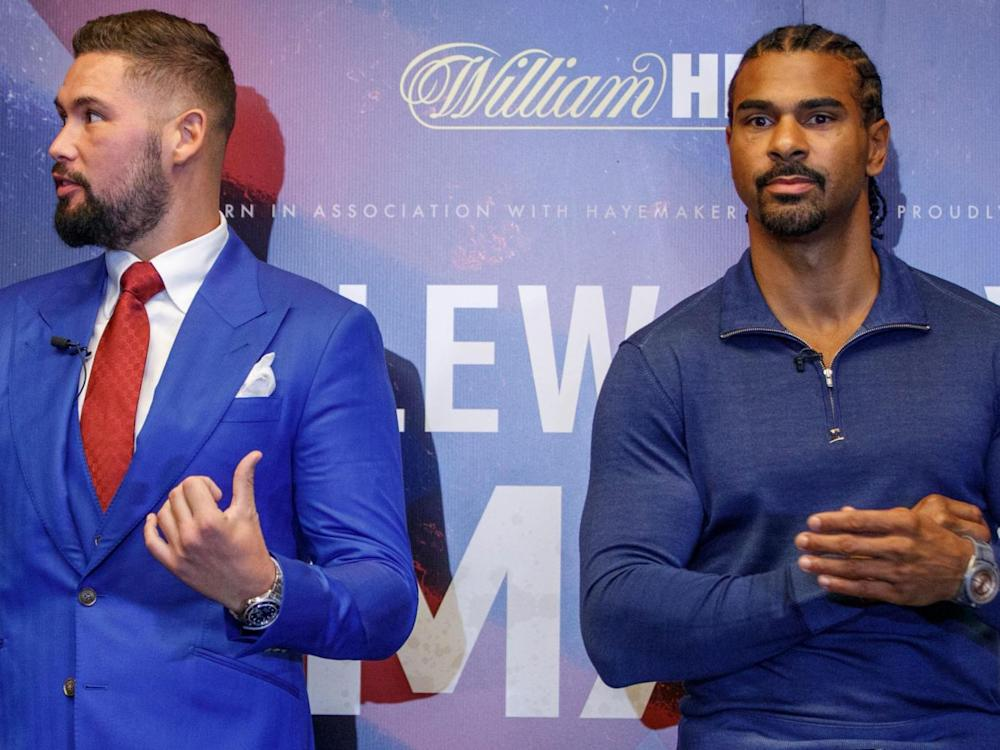 Bellew was sporting a red tie for his Liverpool-supporting brother in law (Getty)