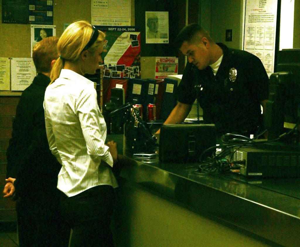 "Paris Hilton at the Hollywood police station. AlphaX/<a href=""http://www.x17online.com"" target=""new"">X17 Online</a> - October 4, 2006"