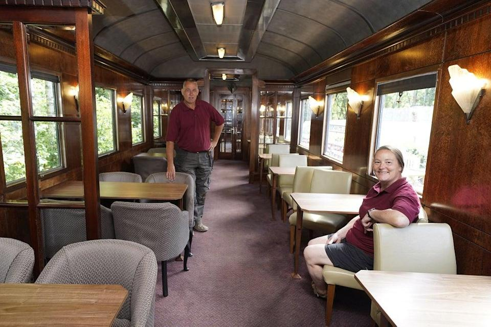 An interior shot of the  restaurant carriage (PA)