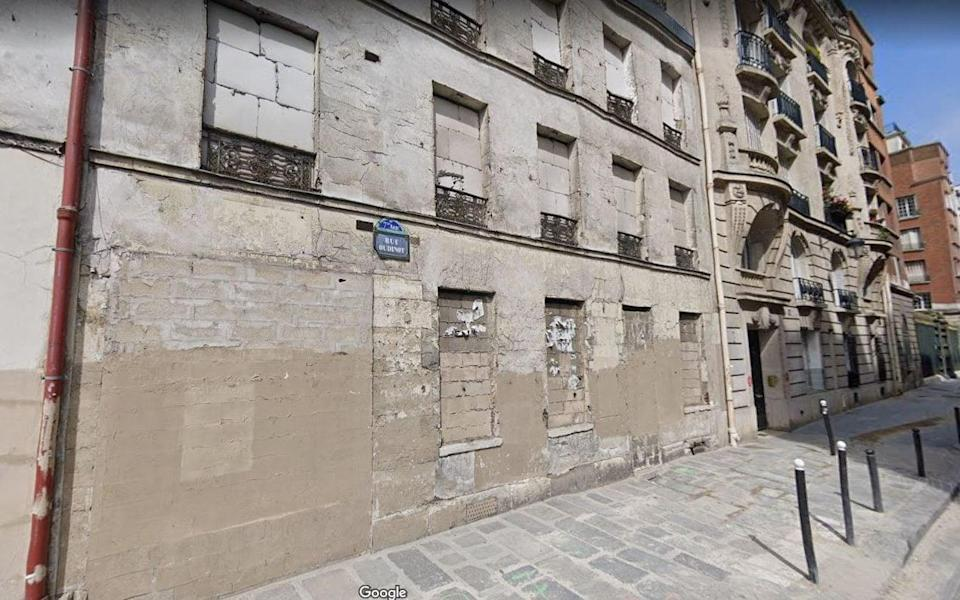 Google Street view of the property in one of the French capital's most luxurious neighbourhoods