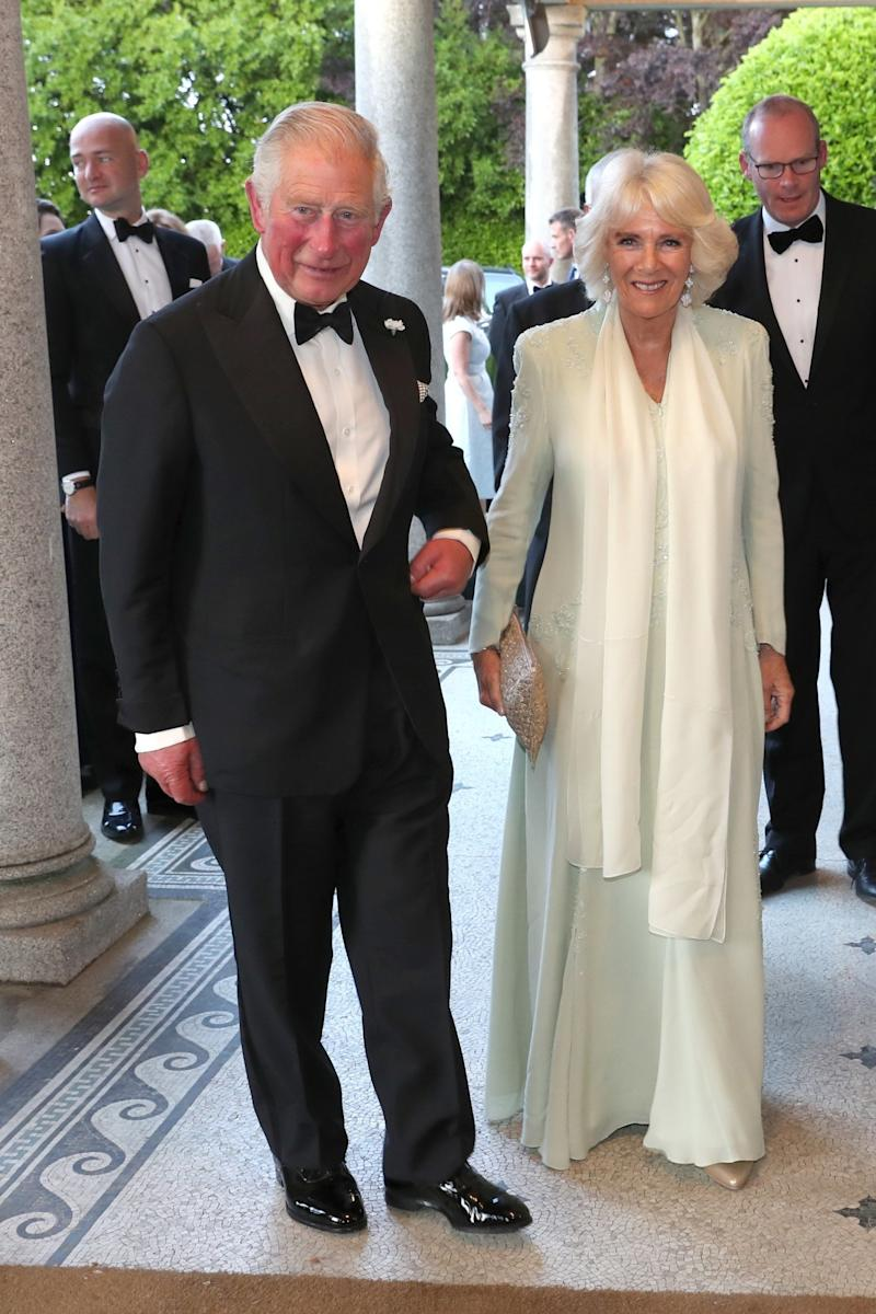Later, they attended a black tie dinner to celebrate UK/Ireland relations at Glencairn (Getty Images)