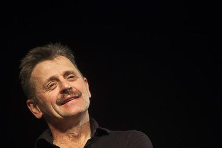 Renowned stage performer Baryshnikov attends a news conference at the Suzanne Dellal Centre in Tel Aviv