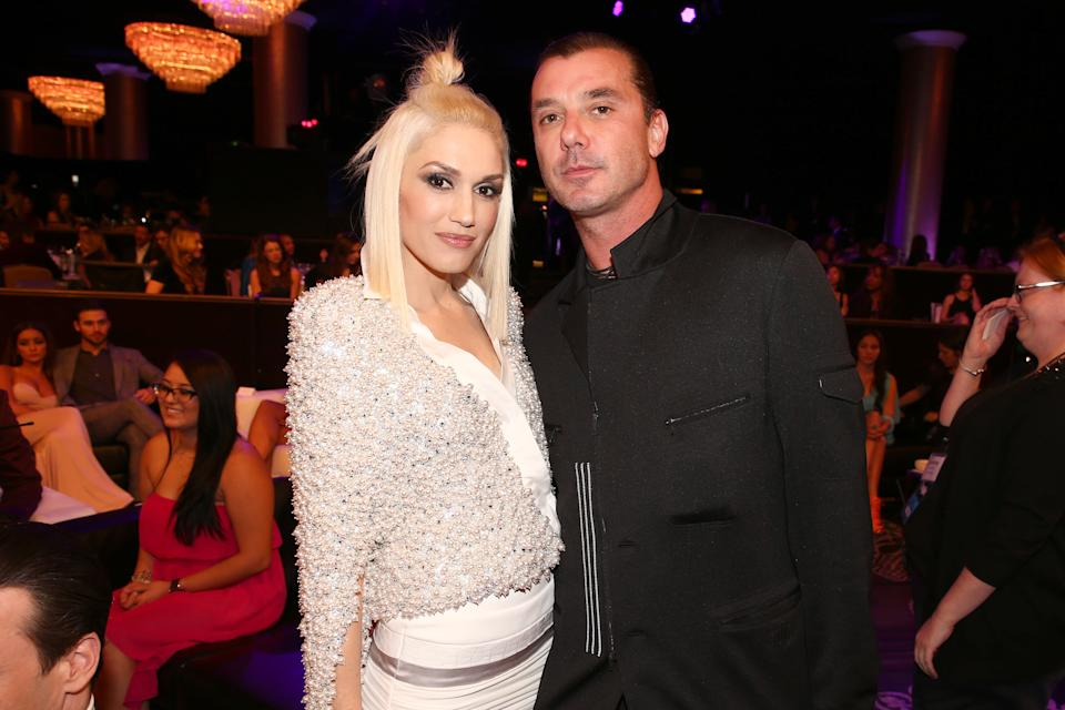 Gwen Stefani (L) and Gavin Rossdale attend the PEOPLE Magazine Awards at The Beverly Hilton Hotel on December 18, 2014 in Beverly Hills, California.  (Photo by Chris Polk/PMA2014/Getty Images for dcp)