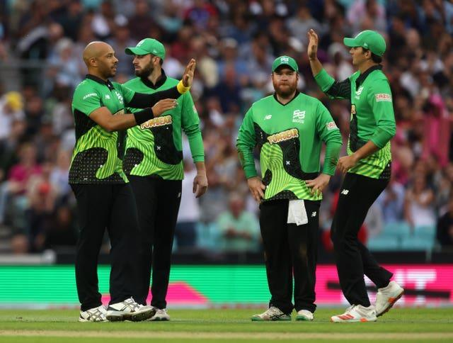 Tymal Mills (left) also impressed for Southern Brave