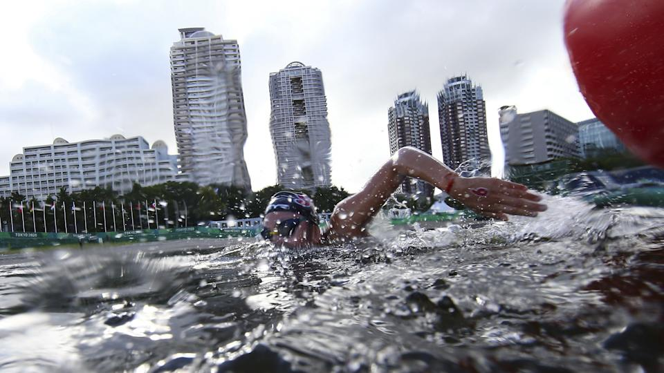 Singapore's Chantal Liew in action in the women's 10km marathon swim at the 2020 Tokyo Olympics.