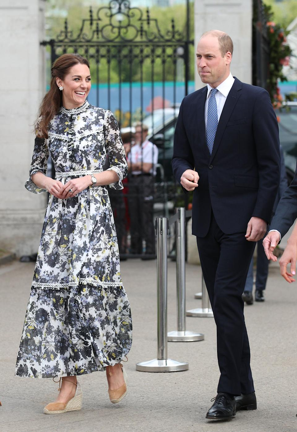 The Duke and Duchess of Cambridge arrive at the RHS Chelsea Flower Show at the Royal Hospital Chelsea, London [Photo: PA]