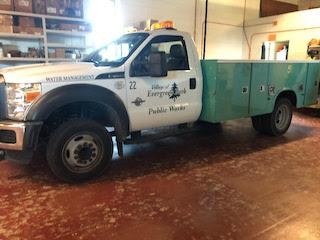 Village employees will arrive in vehicles with Evergreen Park lettering. / EPPD