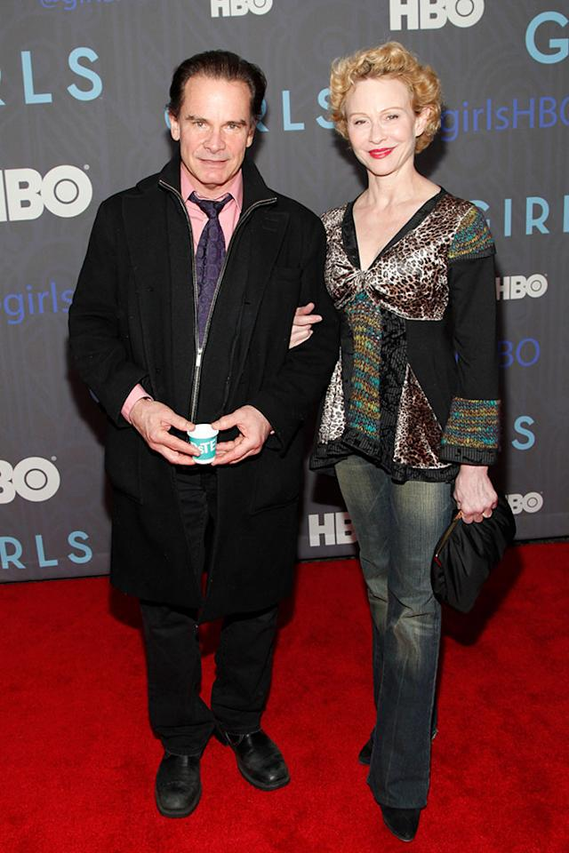 "Peter Scolari and guest attend HBO's premiere of ""Girls"" Season 2 at the NYU Skirball Center on January 9, 2013 in New York City."