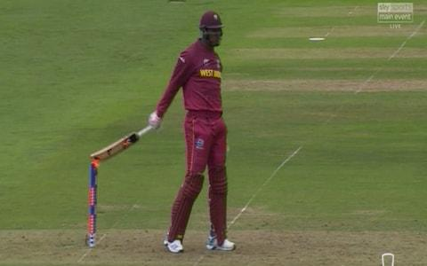 Hit wicket refrral - Credit: Sky Sports