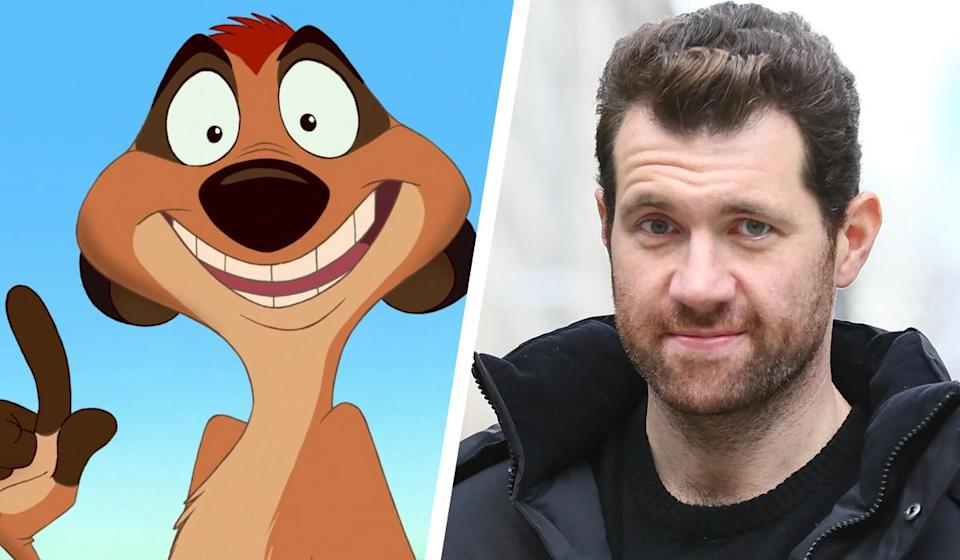 <p>That's right – the wise-cracking meerkat is back… and he's played by Billy Eichner. He's perhaps best known for Funny Or Die's 'Billy On The Street', but Eichner has also appeared in his fair share of film and tv roles. He recently voiced Chef Pig in 'The Angry Birds Movie' and stars as Harrison Wilton in Season 7 of 'American Horror Story'. </p>