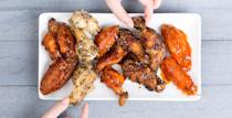"""<p>For football fans, fall weekends pretty much revolve around the TV schedule—and it all leads up to Super Bowl Sunday. No matter which game you're watching, you need a full spread to keep the crew energized past half time. These slow cooker wing recipes taste great <em>and </em>help keep everyone's stomach happy with minimal effort on the host's part. No <a href=""""https://www.amazon.com/Crock-Pot-6-Quart-Programmable-Stainless-SCCPVL610-S/dp/B004P2NG0K/"""" rel=""""nofollow noopener"""" target=""""_blank"""" data-ylk=""""slk:Crock-Pot"""" class=""""link rapid-noclick-resp"""">Crock-Pot</a>? We've got even more <a href=""""https://www.delish.com/cooking/g918/chicken-wing-recipes/"""" rel=""""nofollow noopener"""" target=""""_blank"""" data-ylk=""""slk:chicken wing recipes"""" class=""""link rapid-noclick-resp"""">chicken wing recipes</a>, too. And for <a href=""""http://www.delish.com/entertaining/g25781215/super-bowl-drinks/"""" rel=""""nofollow noopener"""" target=""""_blank"""" data-ylk=""""slk:Super Bowl drinks"""" class=""""link rapid-noclick-resp"""">Super Bowl drinks</a>, check out our list of cool cocktails.</p><p><strong><em>More into the food than the game? We have the perfect <a href=""""https://shop.delish.com/products/here-for-the-food-t-shirt"""" rel=""""nofollow noopener"""" target=""""_blank"""" data-ylk=""""slk:t-shirt"""" class=""""link rapid-noclick-resp"""">t-shirt</a> for you.</em></strong></p>"""