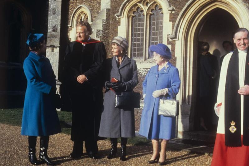 Reverend Billy Graham and the royal family have been close for years. Photo: Getty Images