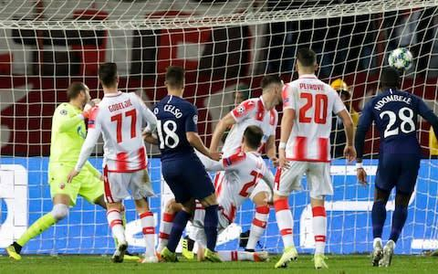 <span>Tottenham Hotspur's Giovani Lo Celso scored the first after a chaotic scramble</span> <span>Credit: EPA-EFE/REX </span>