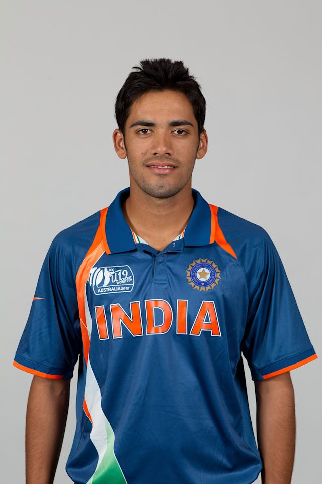 BRISBANE, AUSTRALIA - AUGUST 06:  Prashant Chopra of India poses during a ICC U19 Cricket World Cup 2012 portrait session at Allan Border Field on August 6, 2012 in Brisbane, Australia.  (Photo by Matt King-ICC/Getty Images)