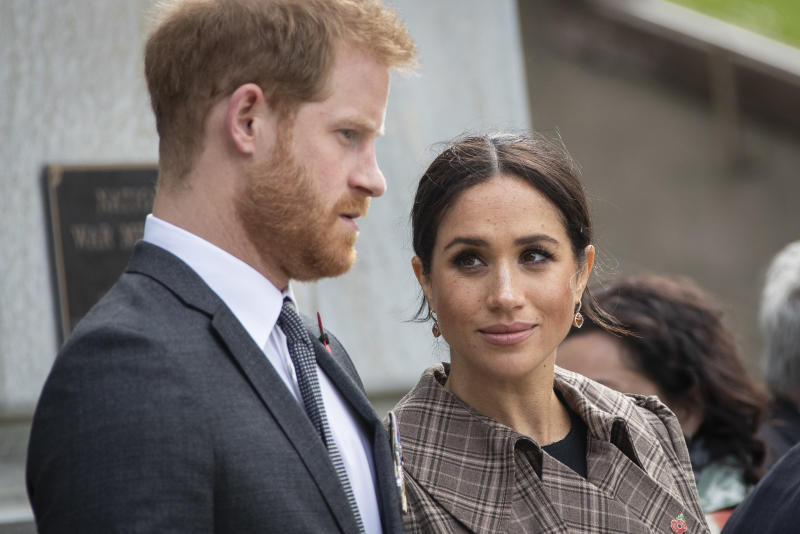 Harry has addressed the pair's royal exit, and defended Meghan in the process. Photo: Getty Images