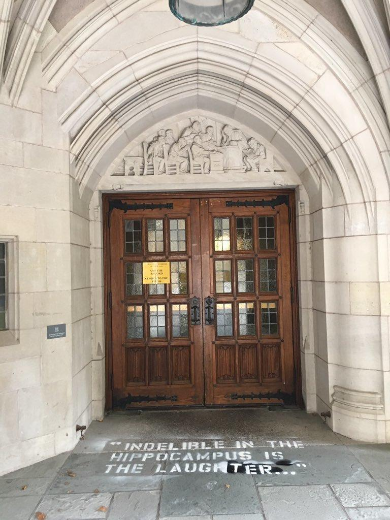 The Sterling Law Building at Yale Law School as seen Monday morning. (Laurel Raymond)