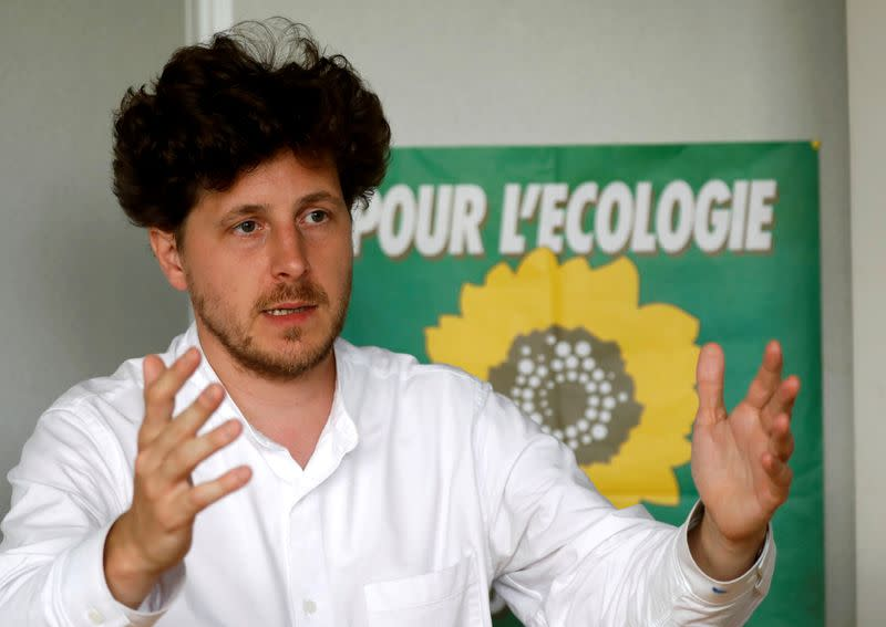 FILE PHOTO: French ecologist party Europe Ecologie Les Verts (EELV) national secretary Julien Bayou