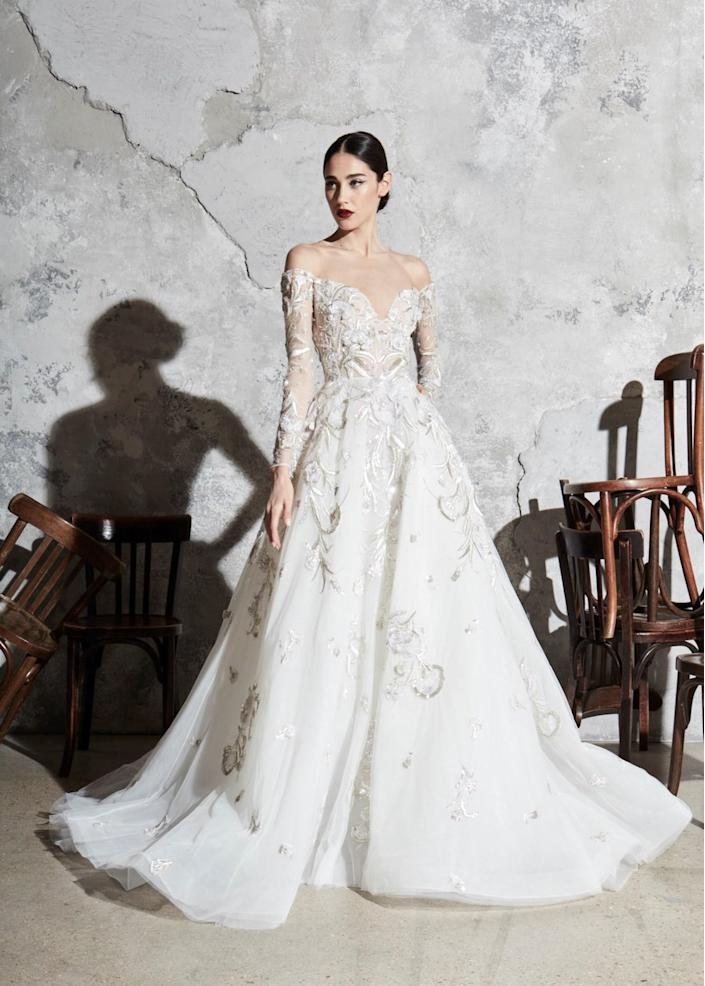 <p>Is there another royal wedding in the works? If so, this off-the-shoulder, princess-like piece is worthy option.</p>