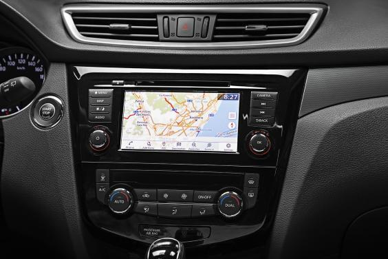 Just right: the small sat nav screen (Nissan)