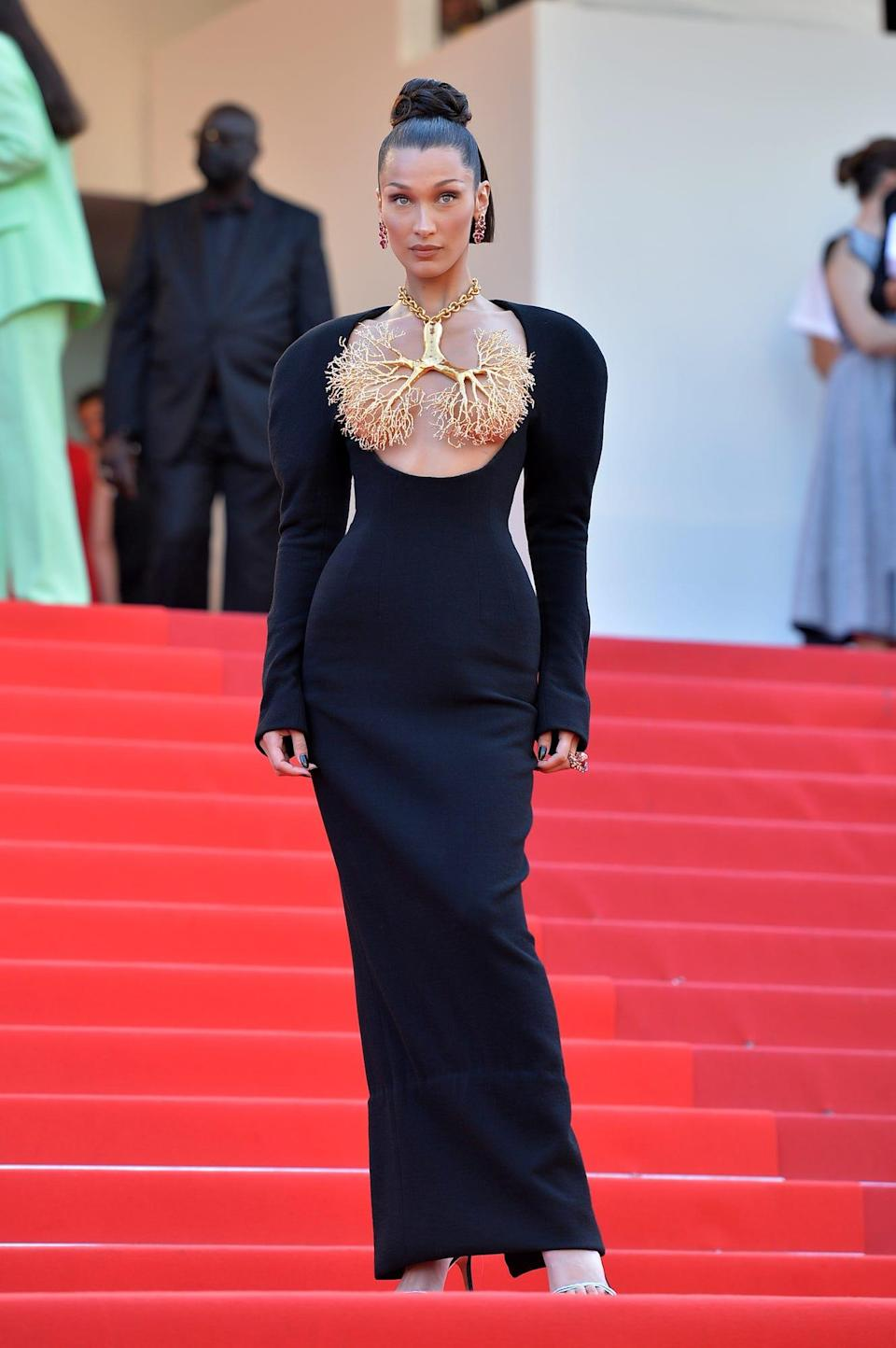 Bella Hadid at the 2021 Cannes Film Festival.