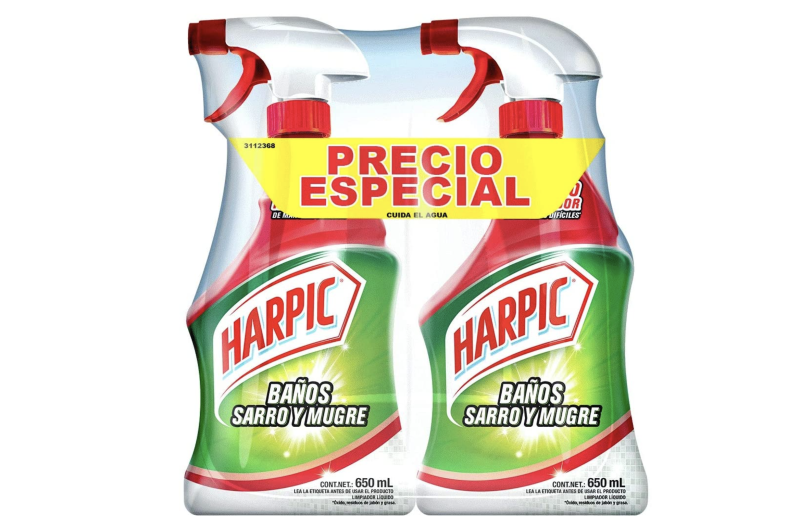Harpic Sarro y Mugre, 650 ml, pack de 2. Foto: amazon.com.mx