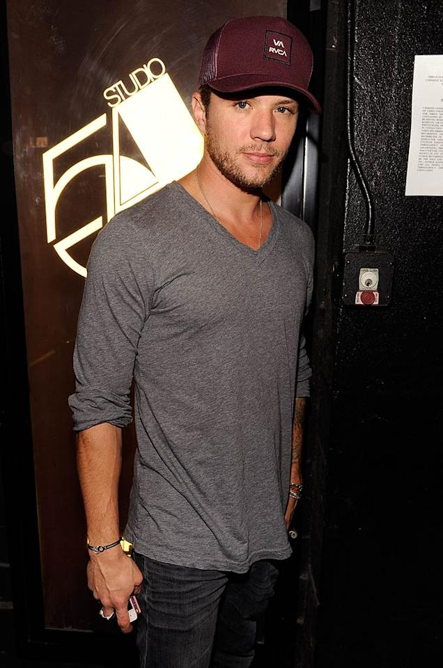 """Ryan Phillippe, who starred in the the 1998 flick """"54,"""" also came out for the soiree, which toasted the launch of Studio 54 Radio. The station plays disco and dance tunes from the hot spot's '70s heyday. (October 18, 2011)"""