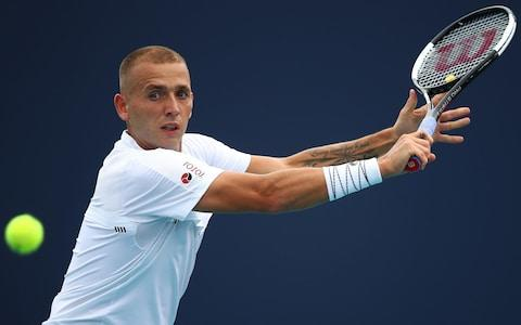 <span>Dan Evans returned from his suspension at aChallenger event last year</span> <span>Credit: Getty Images </span>