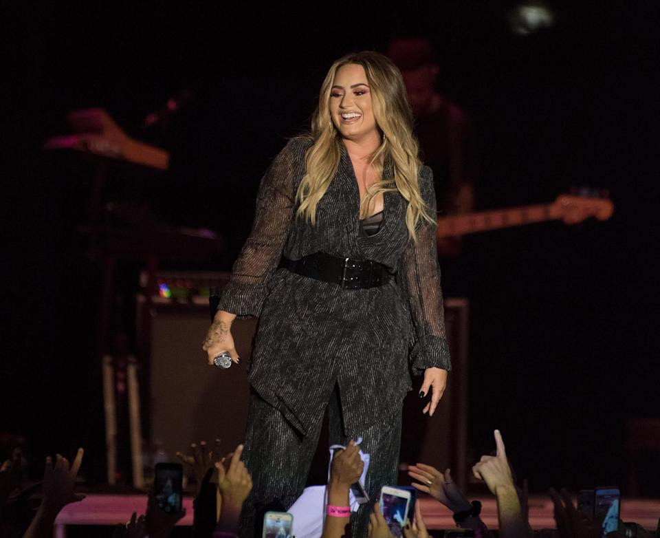 Demi Lovato performs during the California Mid-State Fair on July 22 in Paso Robles, Calif. (Photo: C Flanigan/Getty Images)