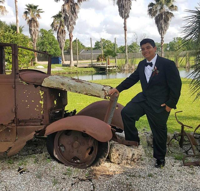 <p>Stone, 17, had a passion for adventure and football. The high school junior's Facebook page features photographs of such sports heroes as the Dallas Cowboys and scenic views of breathtaking wilderness. (Photo: NickABC13 via Twitter) </p>