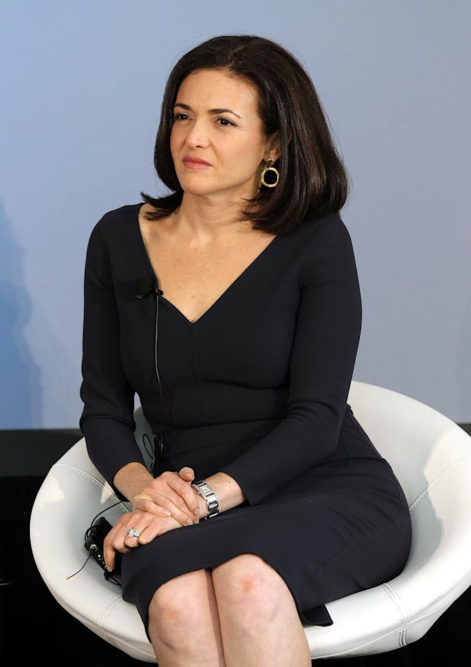 PALO ALTO, CA - AUGUST 02:  Facebook COO Sheryl Sandberg looks on during the President's Council on Jobs and Competitiveness High Growth Business and Entrepreneurship Listening and Action Session at the VMware headquarters on August 2, 2011 in Palo Alto, California.  Jobs Council members, administration officials and Silicon Valley leaders spoke with entrepreneurs about how public and private sectors can partner to create jobs through innovation.  (Photo by Justin Sullivan/Getty Images)